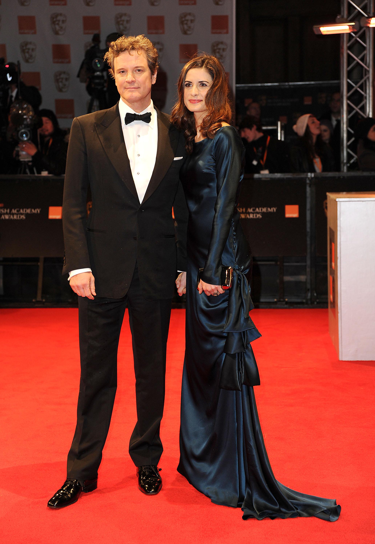 Colin Firth with Livia Giuggioli