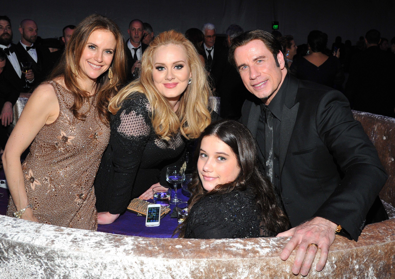 Kelly Preston, John Travolta, daughter Ella Bleu, Adele