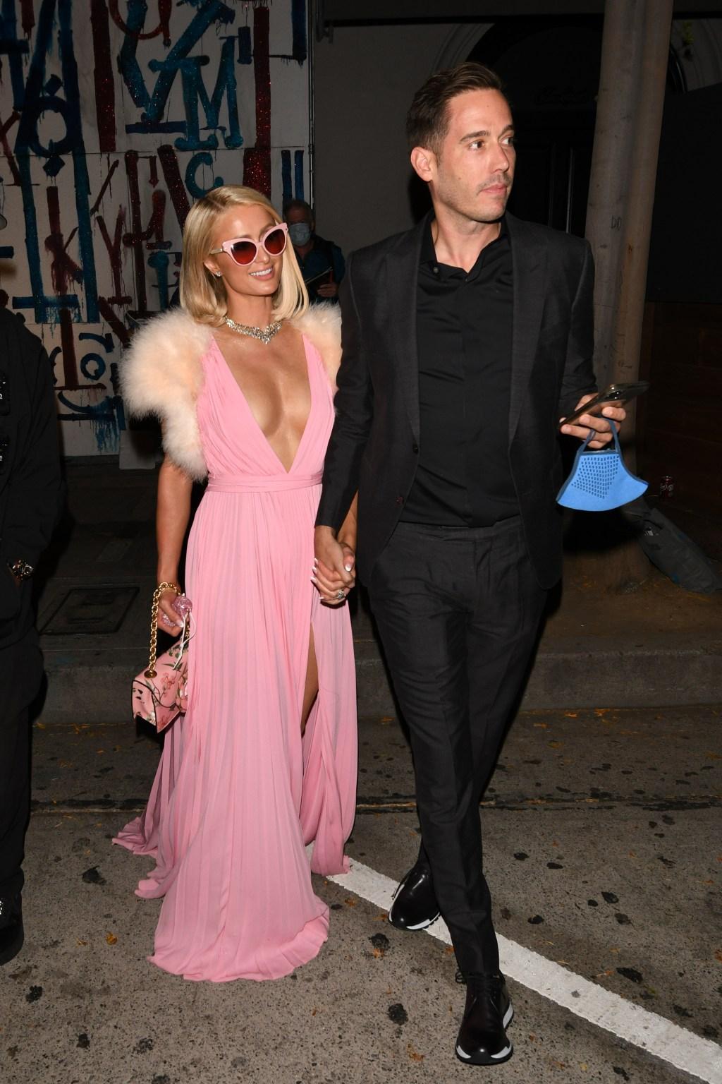 Paris Hilton and Carter Reum