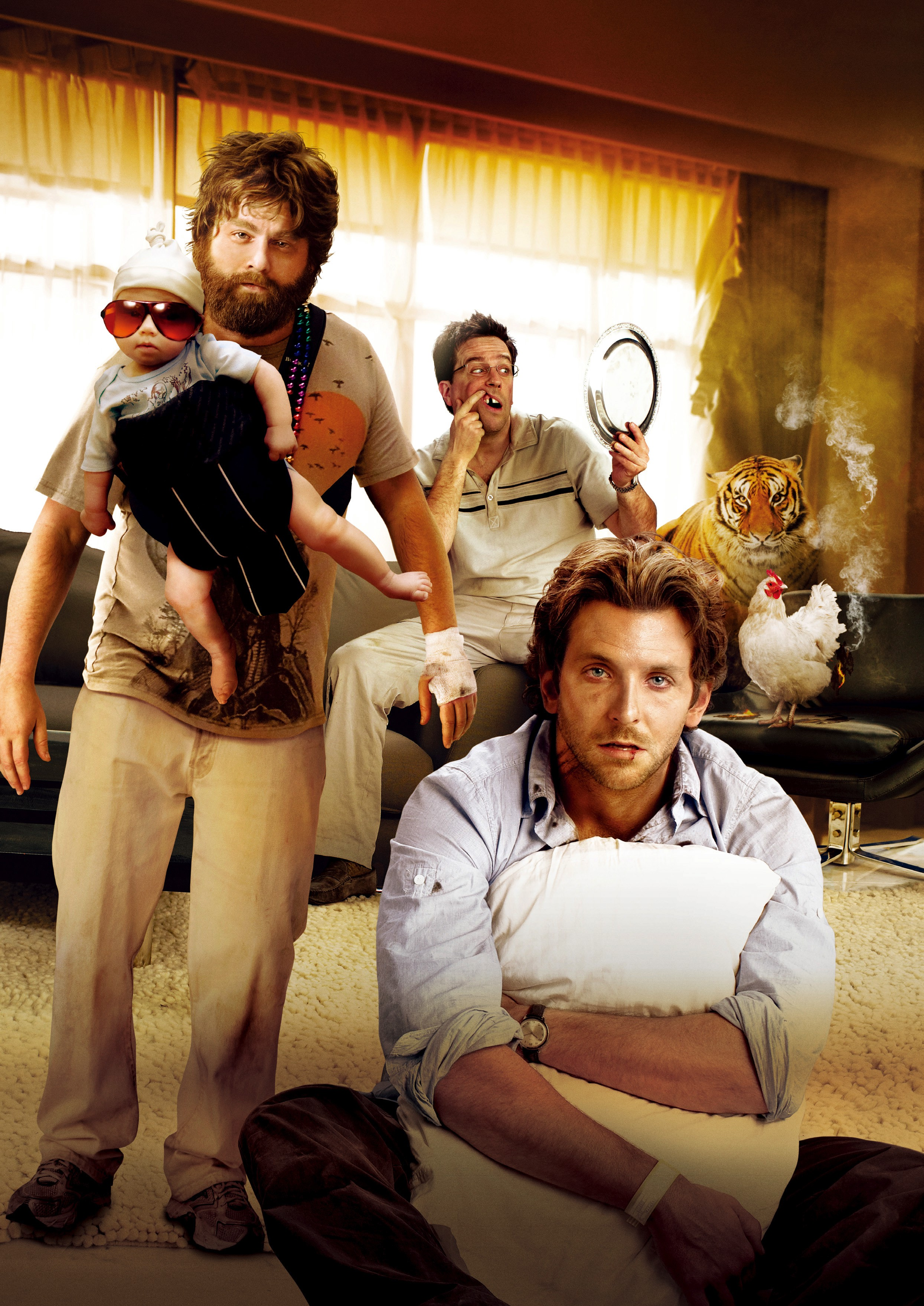 The Hangover, Zach Galifianakis, Ed Helms and Bradley Cooper