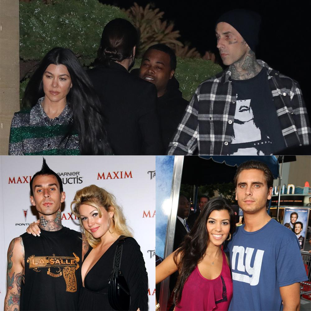 Kourtney Kardashian, Travis Barker, ex wife Shanna Moakler, ex boyfriend Scott Disick