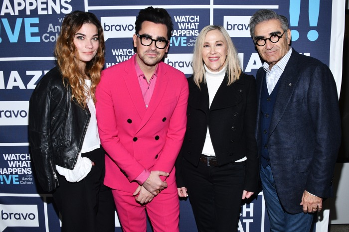 Annie Murphy, Daniel Levy, Catherine O'Hara and Eugene Levy