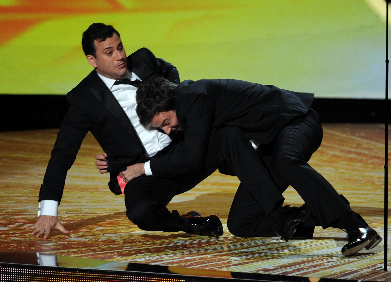 Jimmy Fallon tackles Jimmy Kimmel