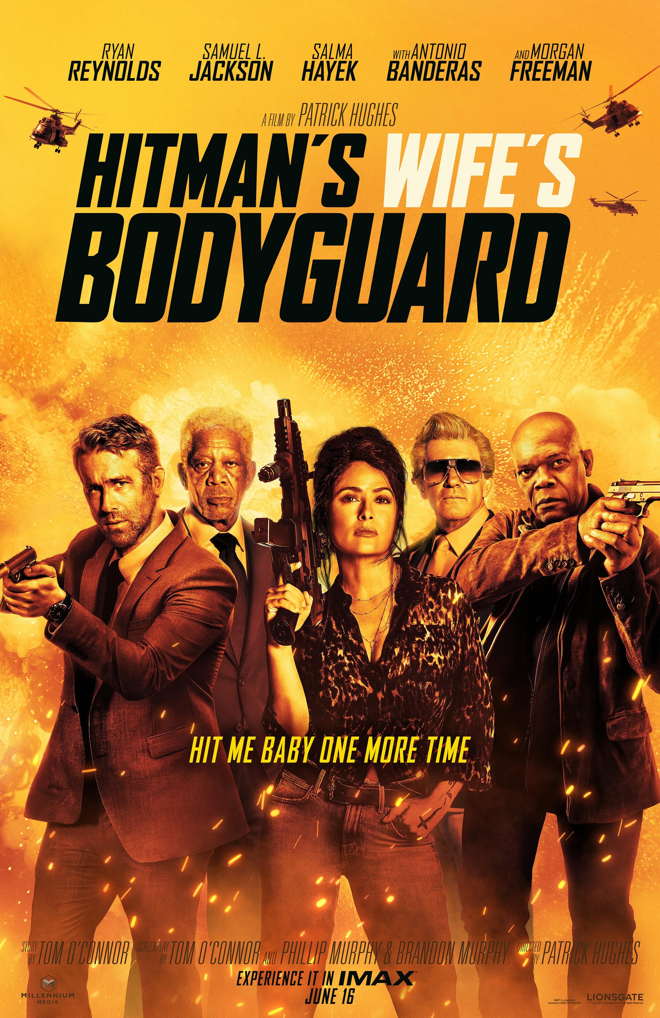 Hitman's Wife's Bodyguard, Ryan Reynolds, Samuel L. Jackson, Salma Hayek, Antonio Banderas, Morgan Freeman