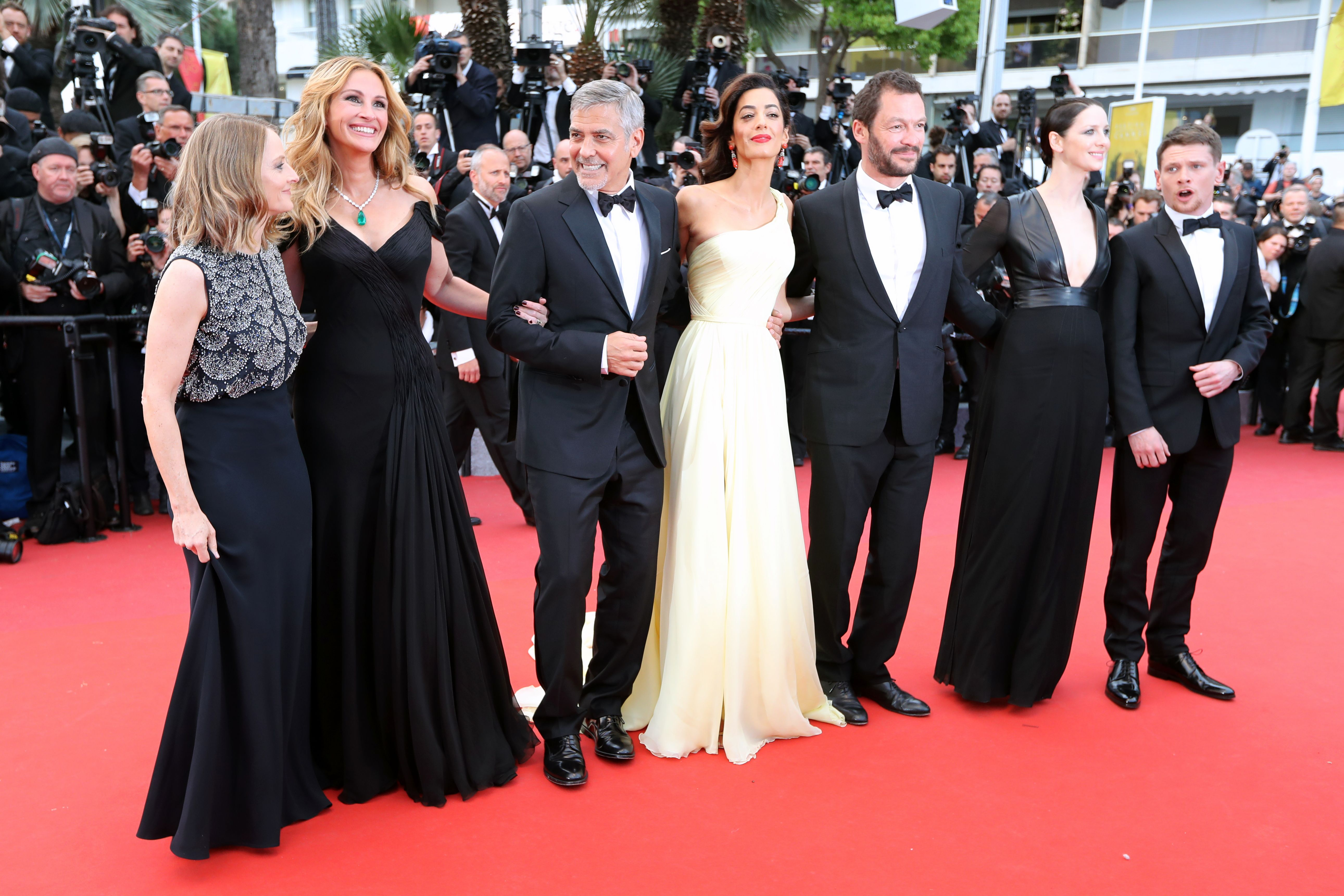 Jodie Foster, Julia Roberts, George Clooney, Amal Clooney, Caitriona Balfe, Dominic West, Jack O'Connell