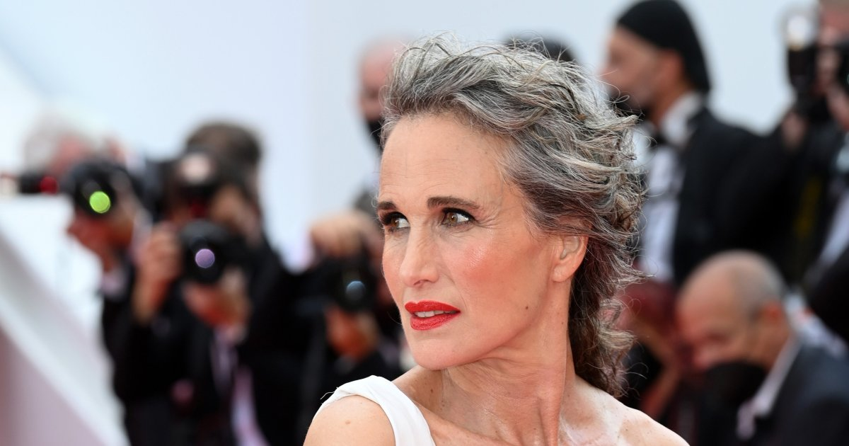 Andie MacDowell embraced her gray hair as a 'power move'.jpg