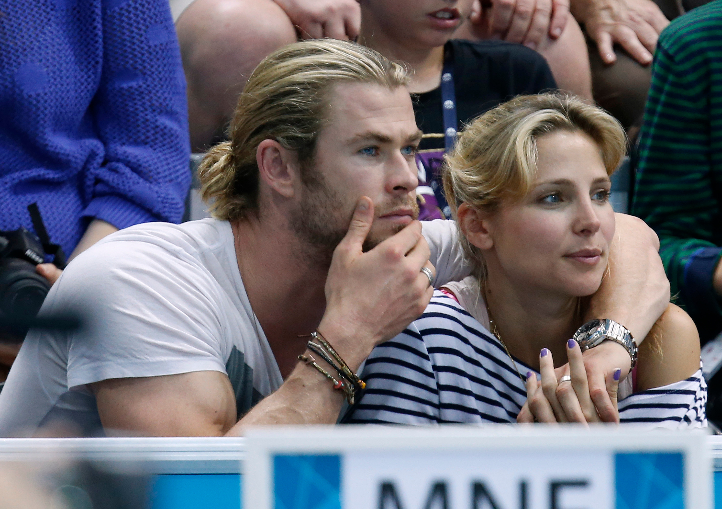Chris Hemsworth, wife Elsa Pataky, Olympics