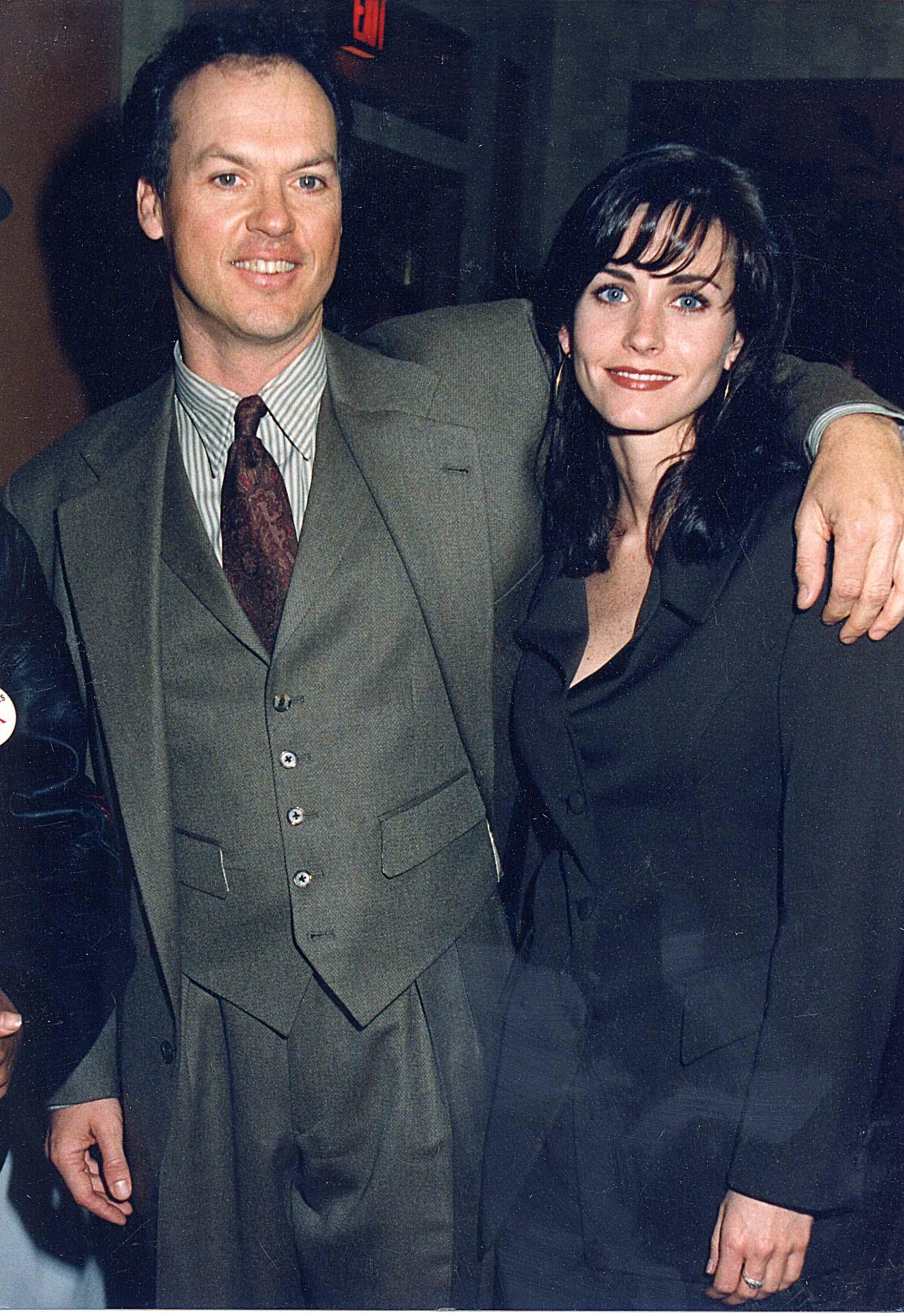 Michael Keaton, Courteney Cox, 1992