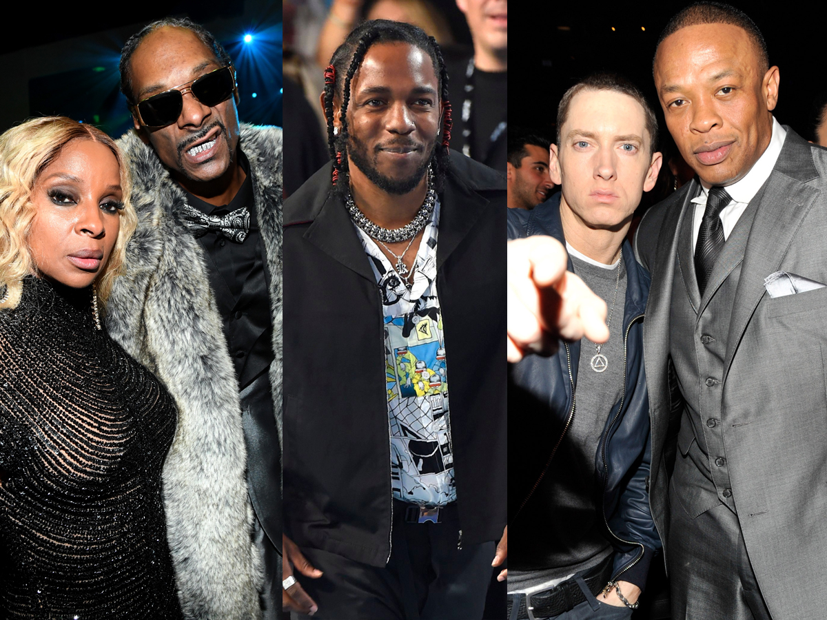 Mary J. Blige, Snoop Dogg, Kendrick Lamar, Eminem, Dr. Dre