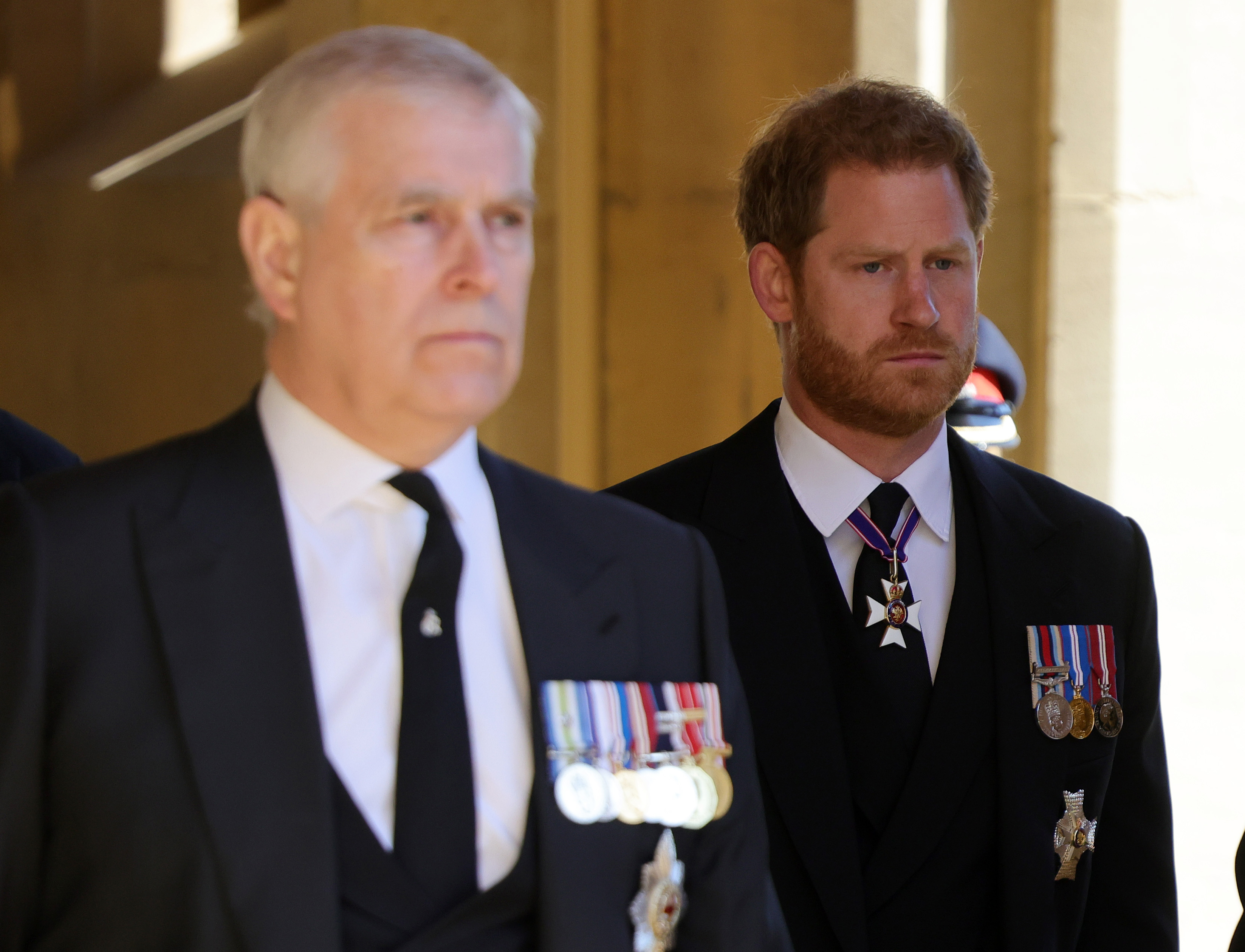 Prince Andrew and Prince Harry