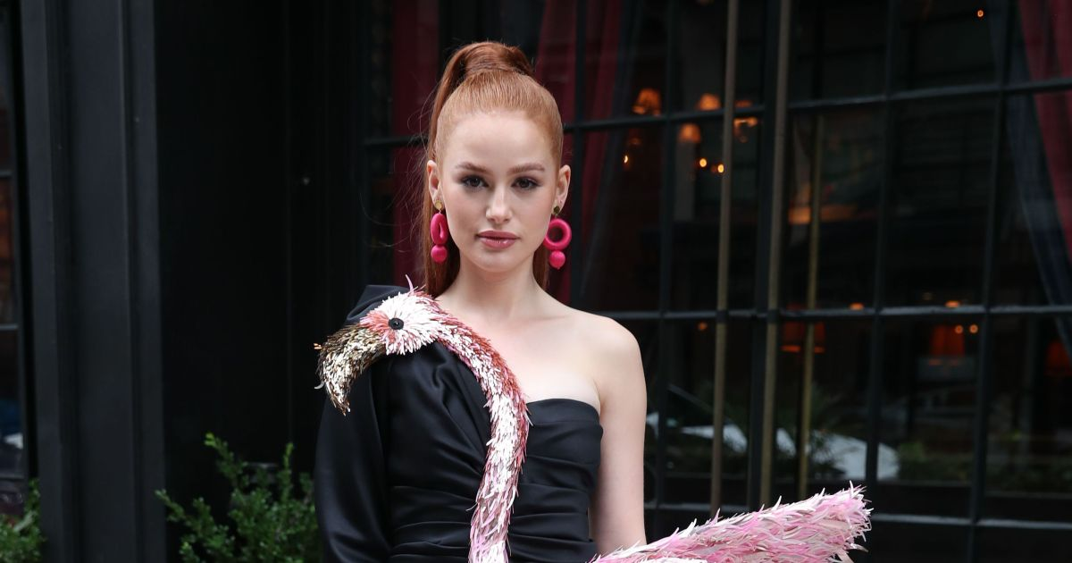 'Riverdale' star's over-the-top flamingo minidress, more fashion hits and misses for September 2021.jpg