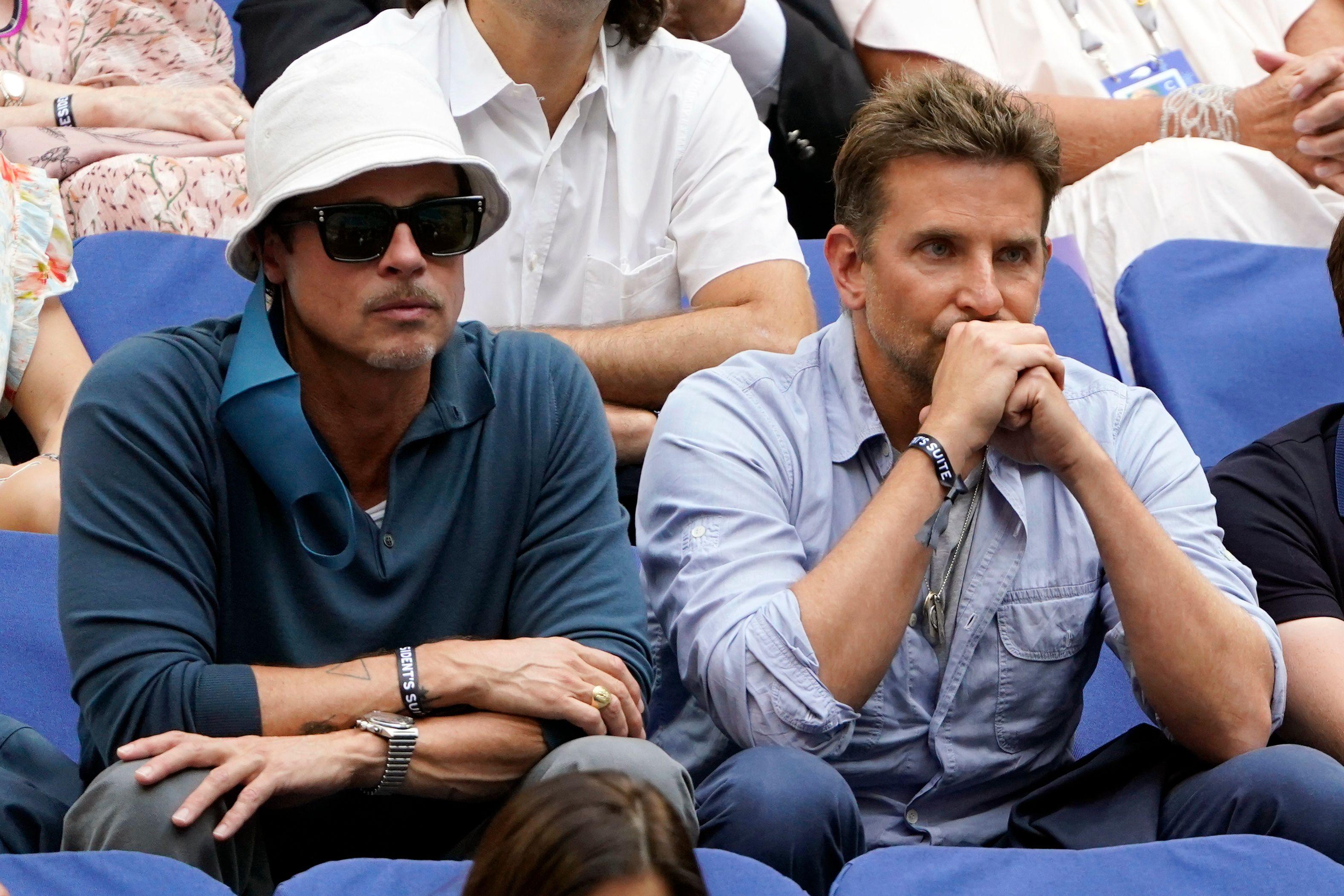 Brad Pitt, Bradley Cooper, US Open