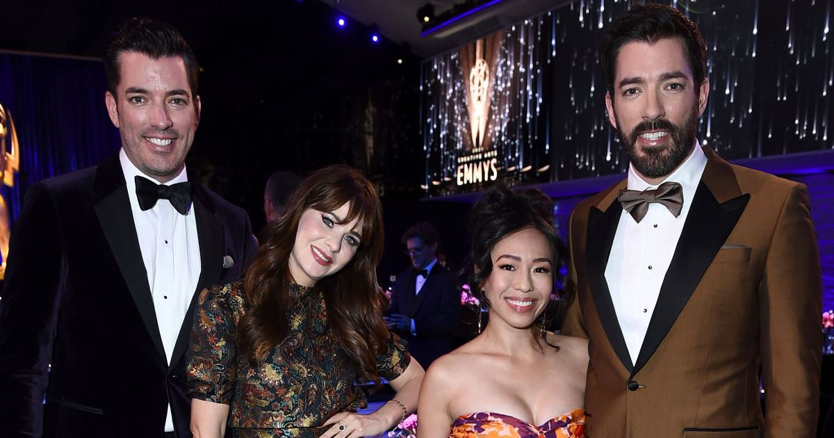 Zooey Deschanel, 'Property Brothers' stars have glam double date, plus more stars at the 2021 Creative Arts Emmy Awards.jpg