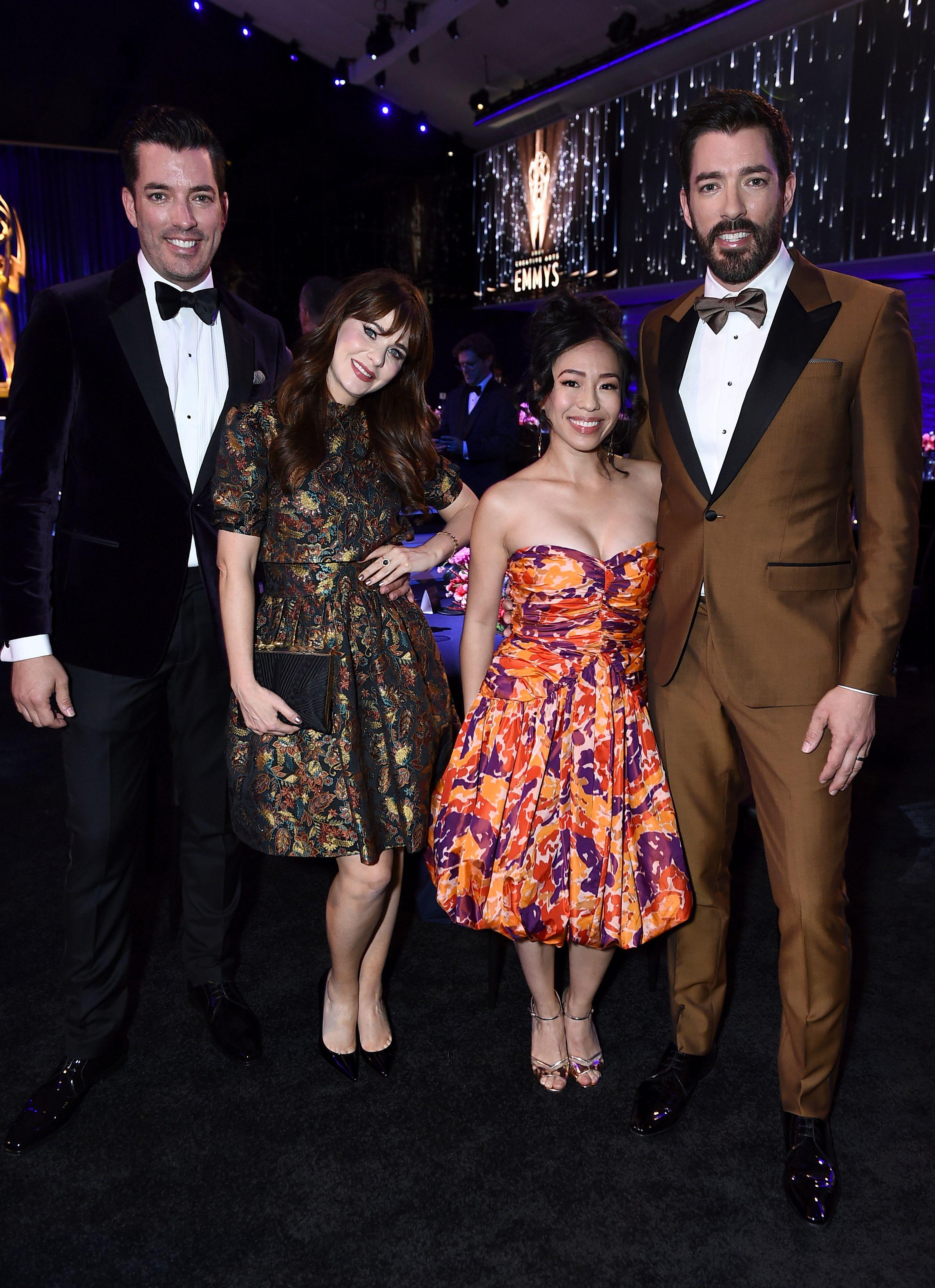 Jonathan Scott, Zooey Deschanel, Linda Phan, Drew Scott, Creative Arts Emmy Awards