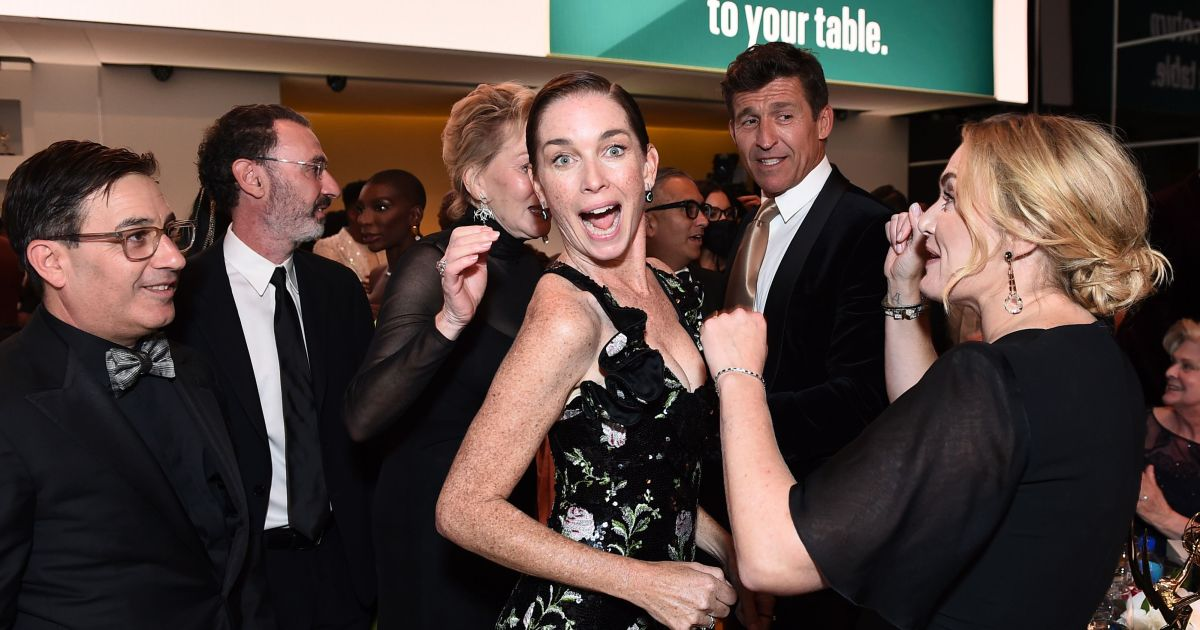 The cast of 'Mare of Easttown' celebrate a big win, more of the best pics from inside the 2021 Emmys.jpg