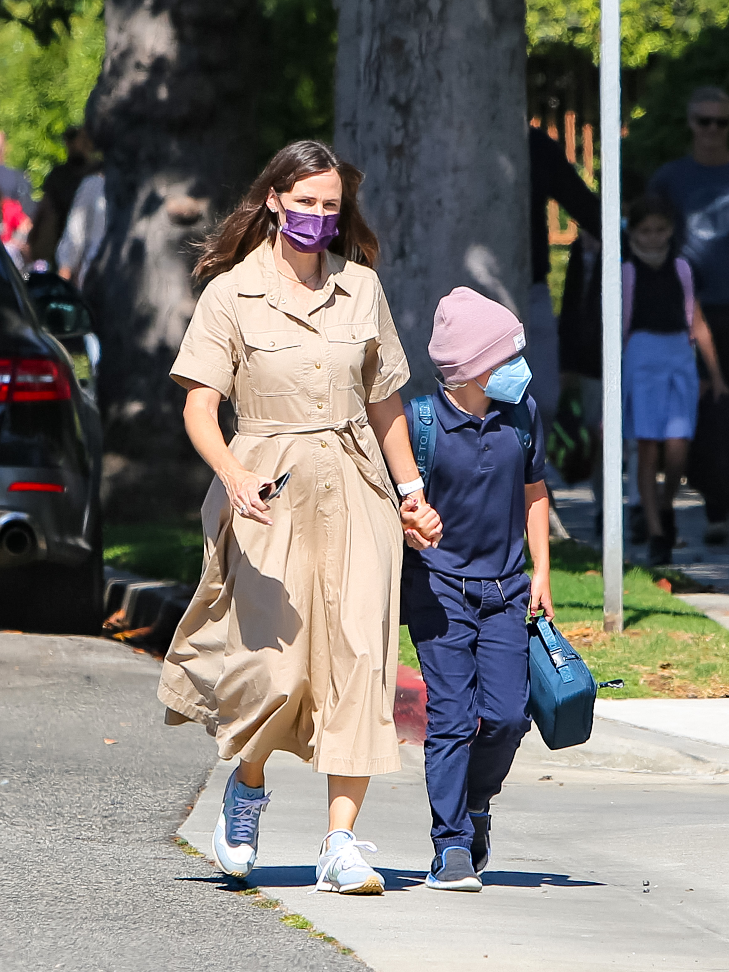 Jennifer Garner, son Samuel Affleck
