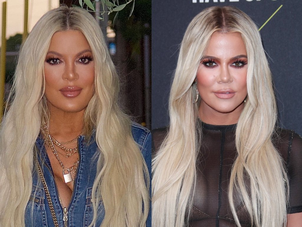 Tori Spelling, Khloe Kardashian look alikes split