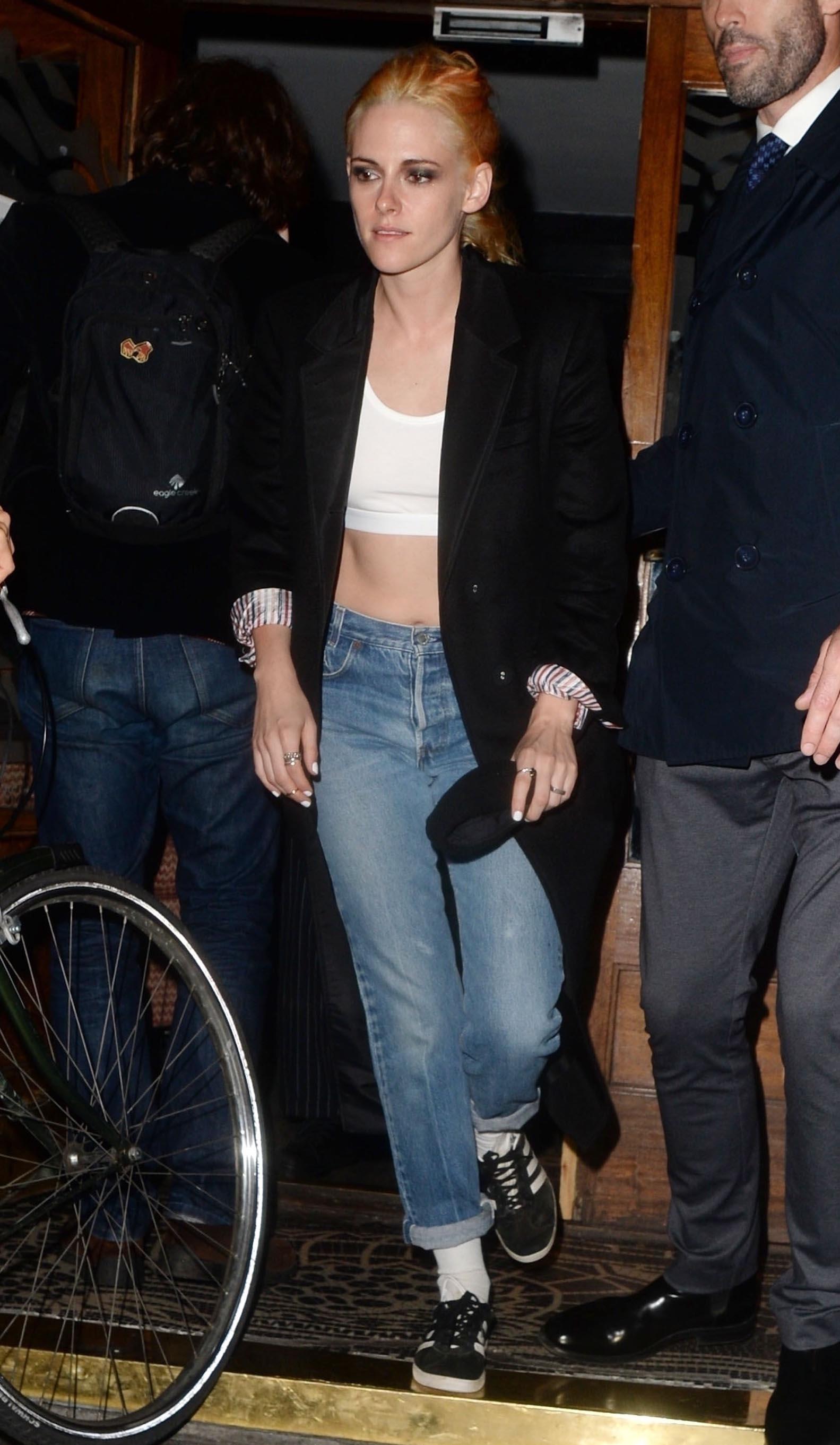 Kristen Stewart, orange hair, crop top