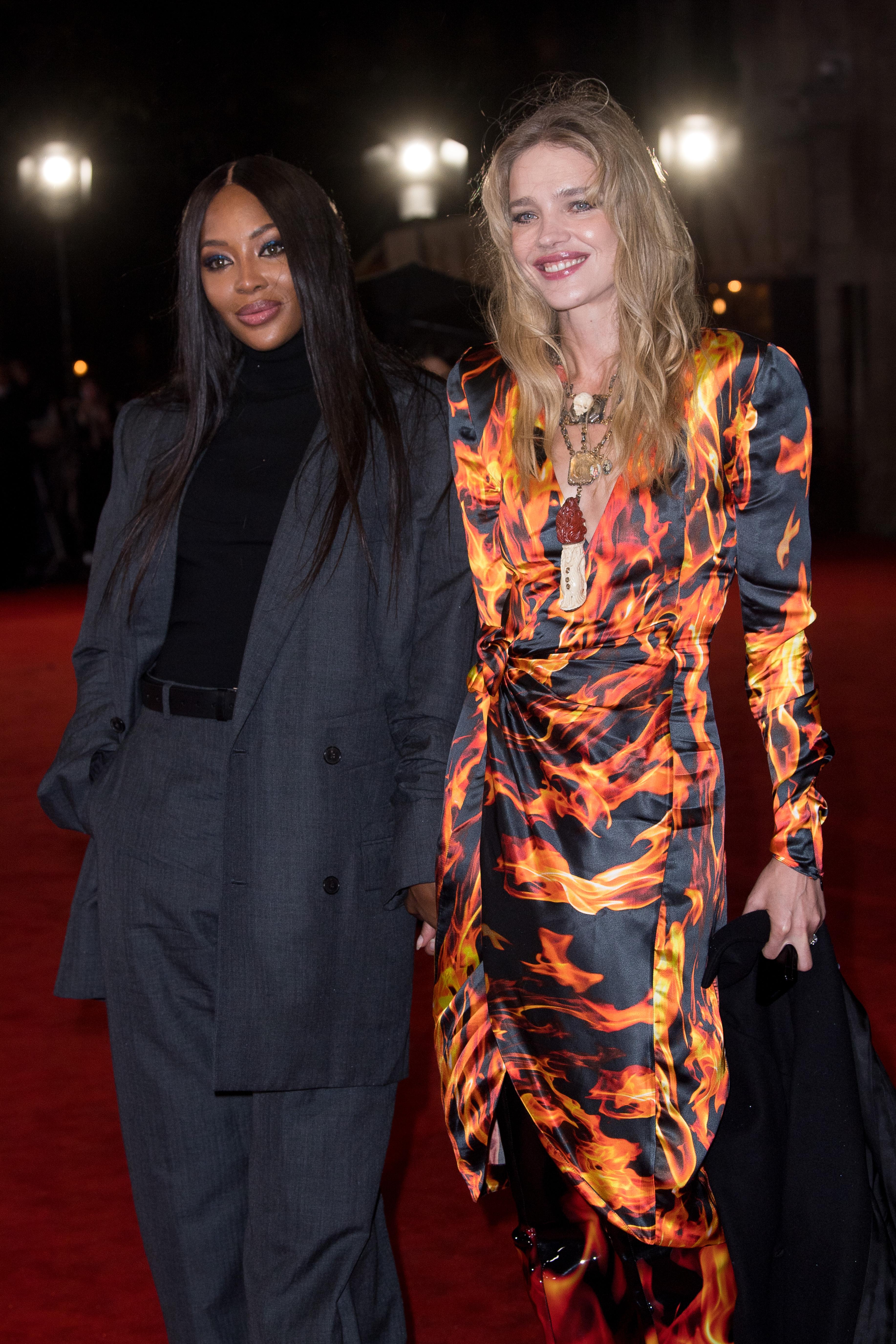 Naomi Campbell and Natalia Vodianova