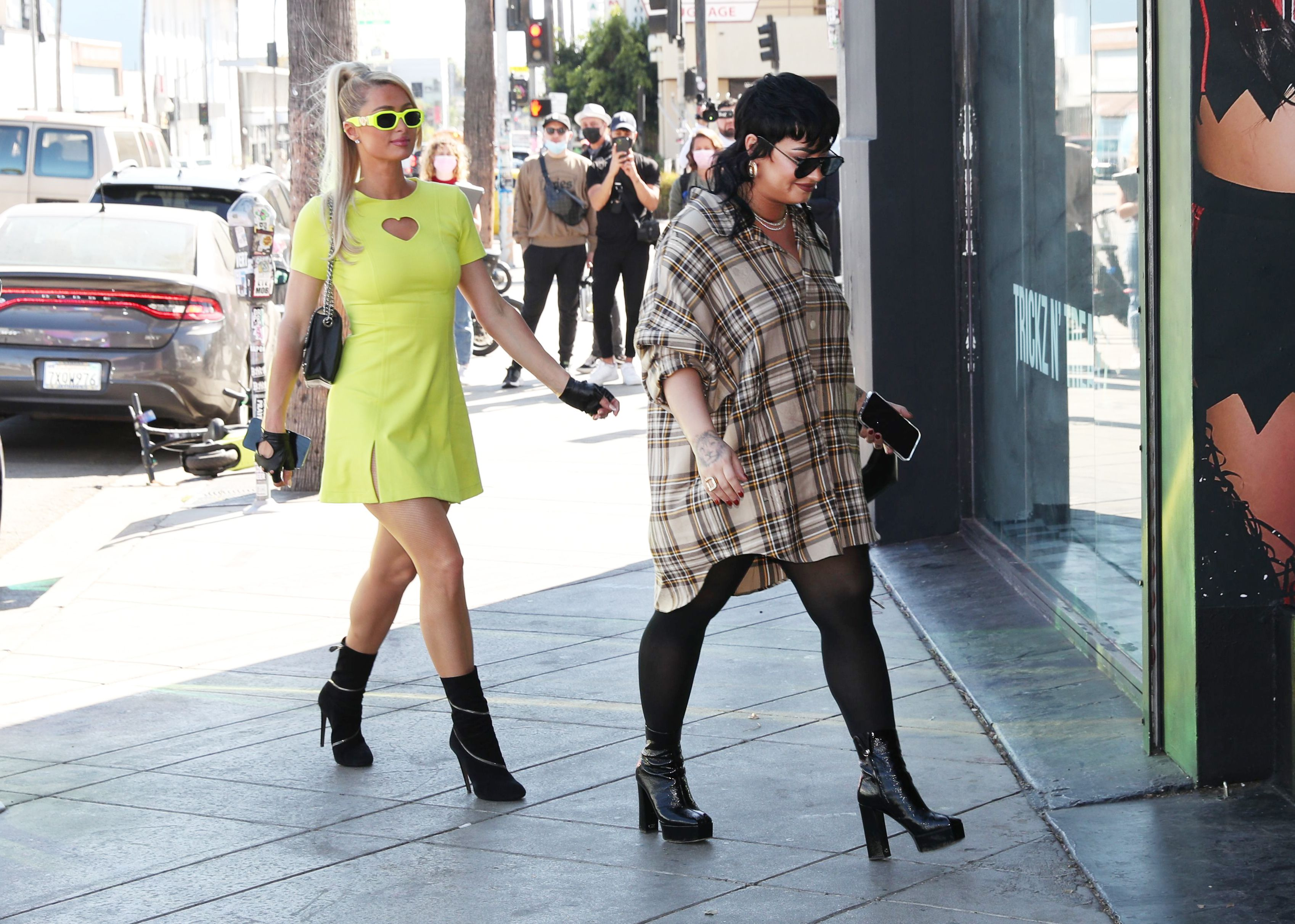 Demi Lovato and Paris Hilton