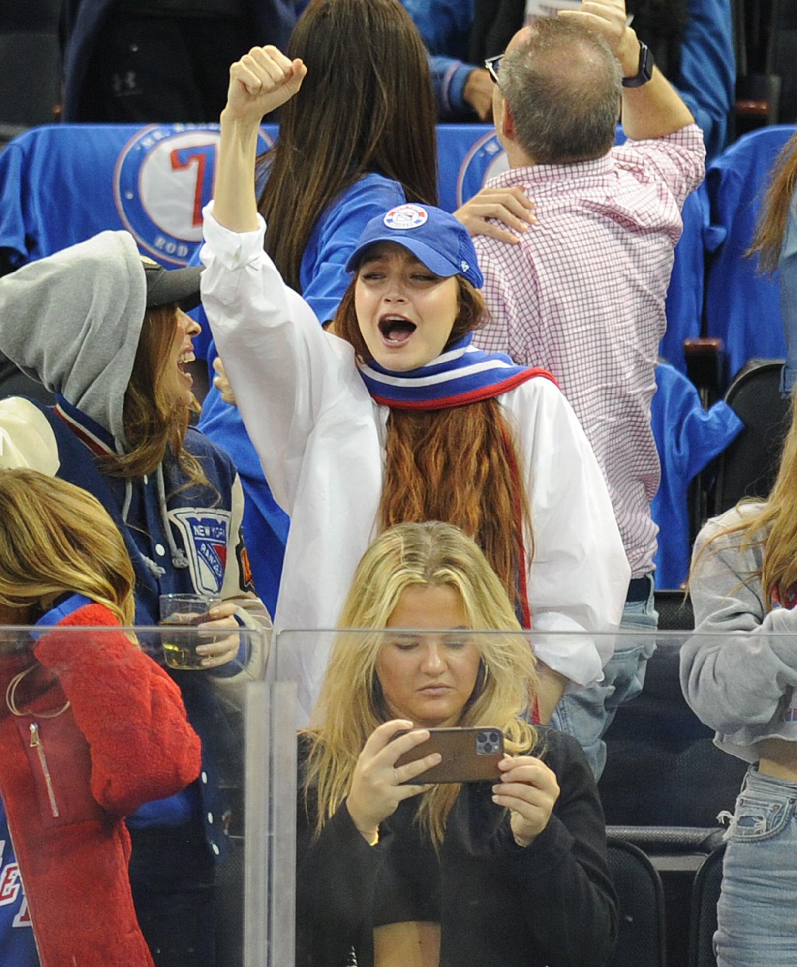 Gigi Hadid hockey game